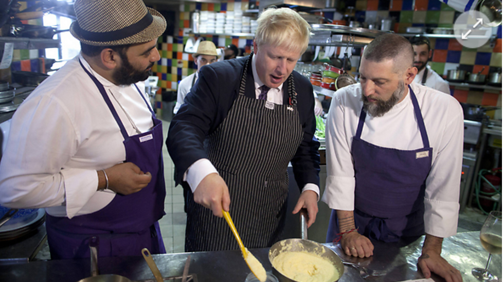 Boris learns how to make Gefilte Fish in a Jewish restaurant in Jerusalem (ynet)