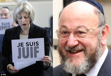 Theresa  Je Suis Juif  May & Chief Rabbi Ephraim Mirvis
