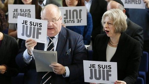 Theresa Je Suis Juif May and Sir. Eric Holocaust EnvoyPickles.