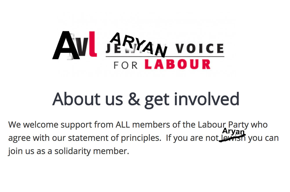 This is what happens to JVL's 'principle statement' once  you replace the word 'Jewish' with 'Aryan.'