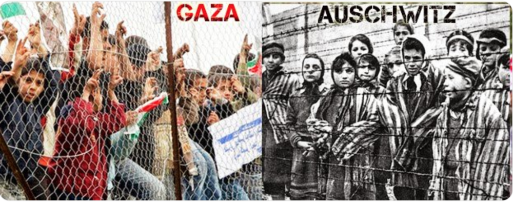 Not to see that Gaza is a concentration camp is a Holocaust denial!!!