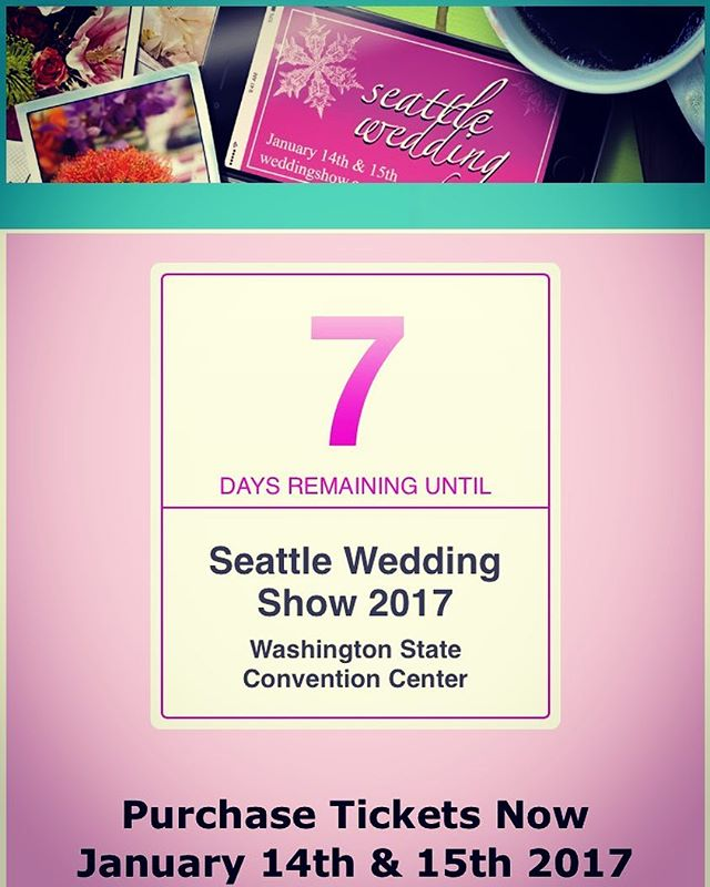 We are gearing up for the Seattle Wedding Show Jan. 14-15! Come see us! Booth 1720! Get tickets at www.weddingshow.com #swedshow #jmarie #jmarieweddings #seattlebride  #seattleweddingshow
