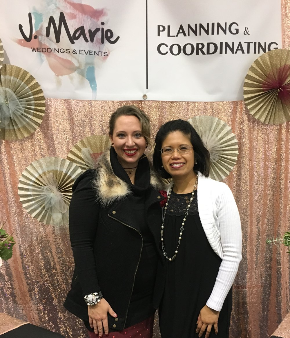 Julianne and Jannice at the Seattle Wedding Show 2017
