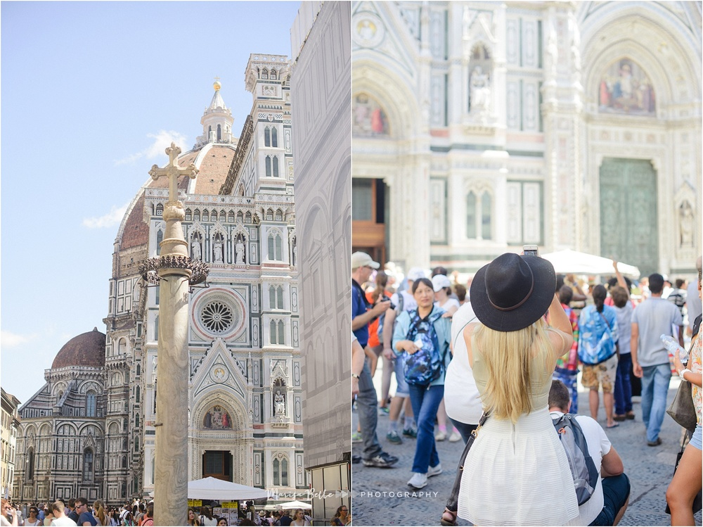 Florence has one of the most beautiful Duomos in all of Italy, people travel from all over the world to see it.  The line to get in wrapped around the entire square!