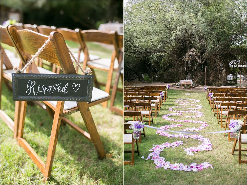 I was absolutely swooning over Emily's rose petal aisle runner!!