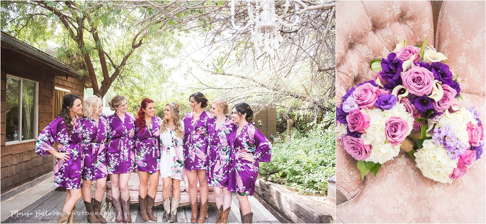 Emily gifted her bridesmaids monogramed robes and Ellen from Flowers by Ellen did a beautiful job with the florals!