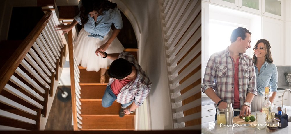 Their historic home and this stair case was nothing short of amazing!