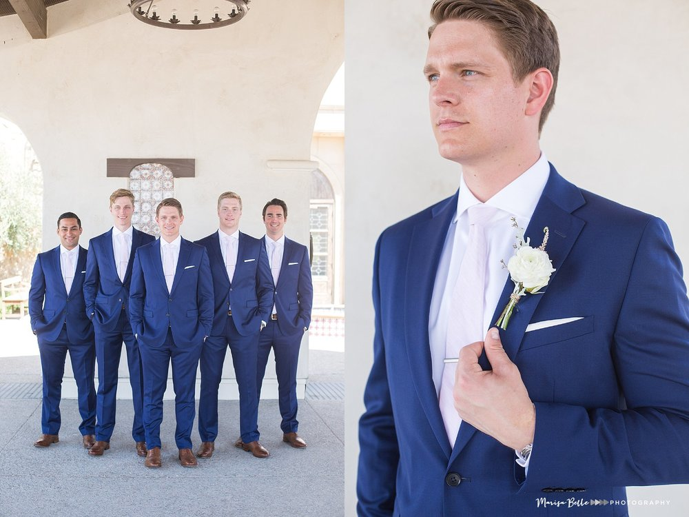 The custom navy suits were perfection on the guys, Brian has impeccable style so I wouldn't expect anything less!