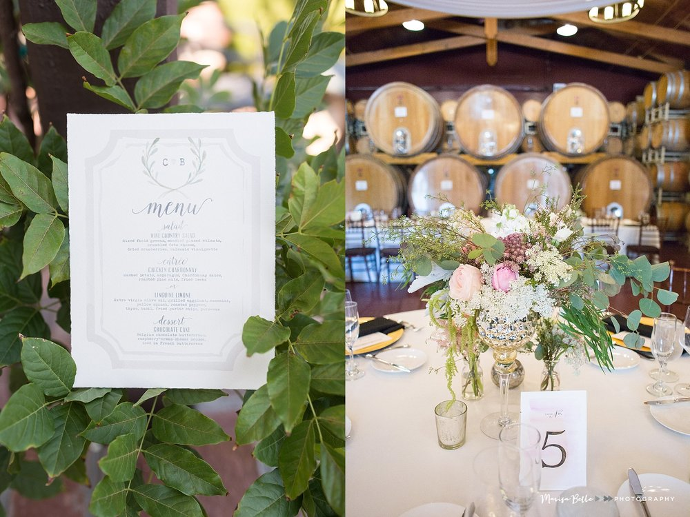 The Ponte Winery's Barrel Room was the location for the reception, so perfect for this intimate wedding!