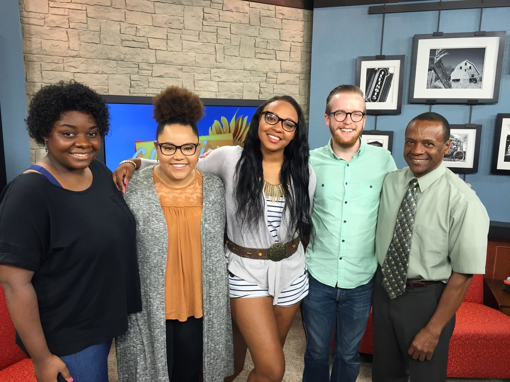 With J'Lyn Hope, Tafadzwa Diener, Jasmine Dandridge, and Nathaniel Banks on the set of ciLiving, 8/1/2016
