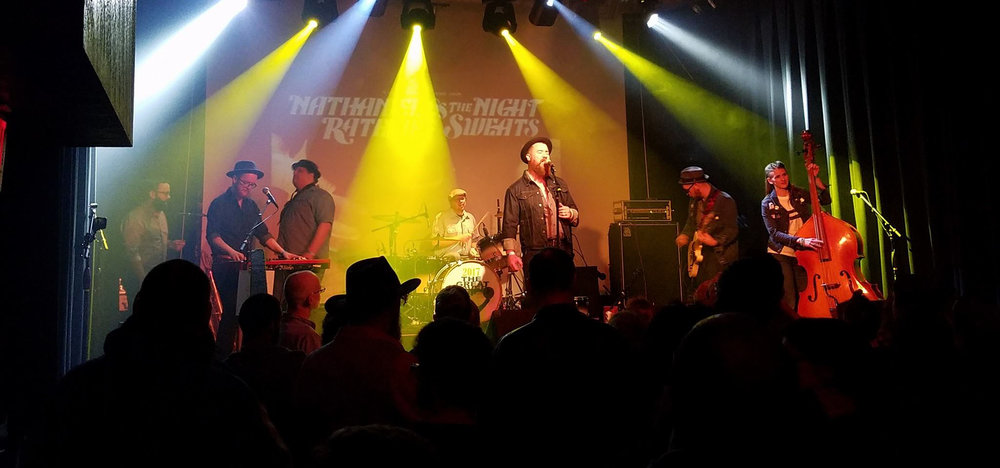 Whiskey Shadows as Nathaniel Rateliff and the Night Sweats at the 26th Annual Great Cover Up - Champaign, IL, Jan 21, 2017