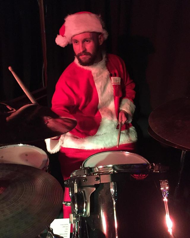 We're taking bets.. will Alek rock the Santa suit once more at our December 15 show at Cowboy Monkey with Blind Adam and The Federal League?? @blindadamfederal @cowboy.monkey
