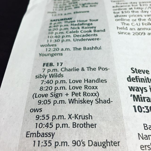 Comin' at ya this Sunday for #gcup2019 at @citycenter_cu!  Thanks for the shout @news_gazette! Year 1: @nathanielrateliff & the Night Sweats Year 2: @robzombieofficial #whitezombie Year 3: You'll never guess!! See you soon #chambana!