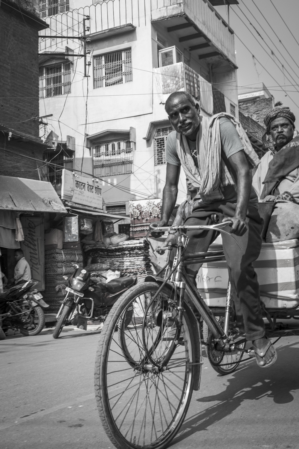 An Indian man trying to make a living.