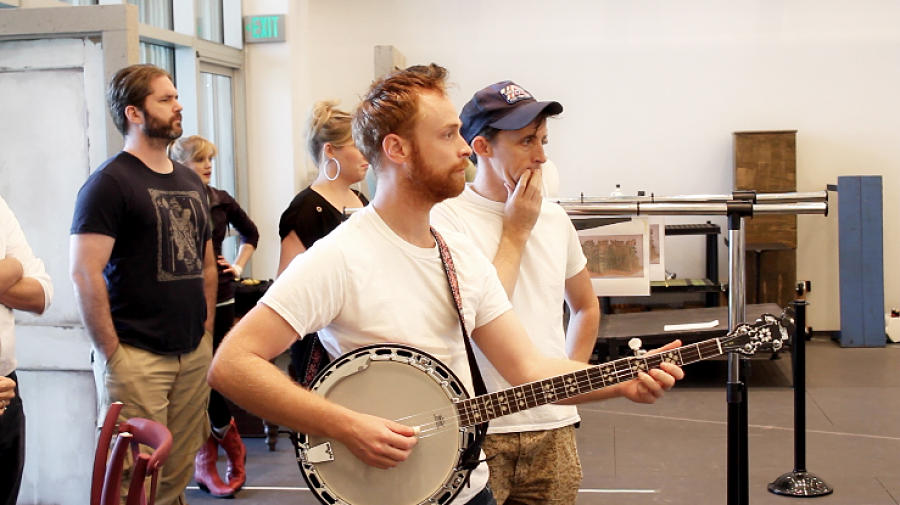 "Rehearsing ""Moonshine"" at DTC"
