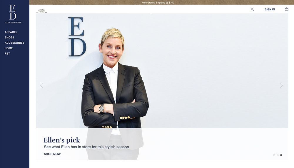ED by Ellen Website Redesign