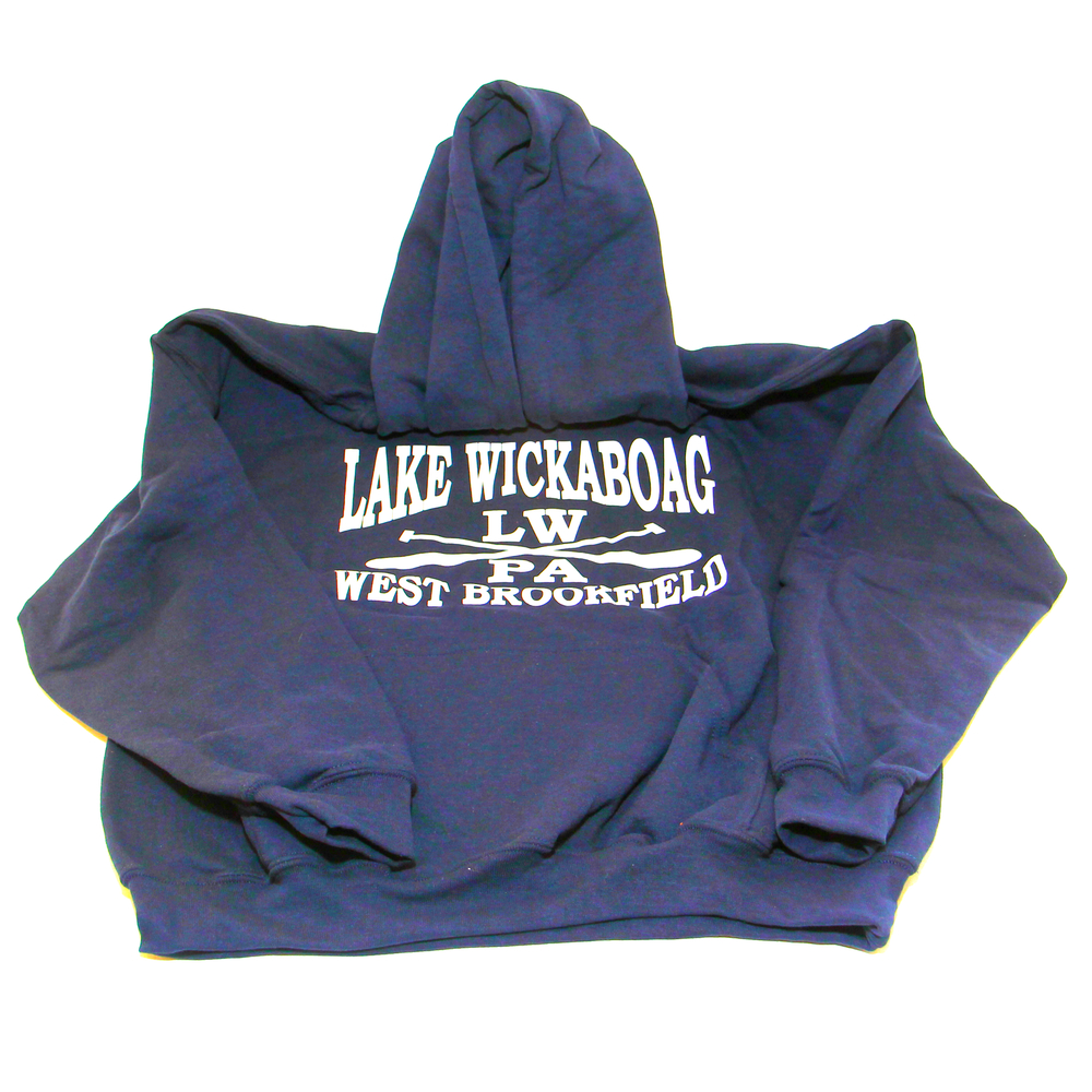 Navy Hoodie with logo $45-$50