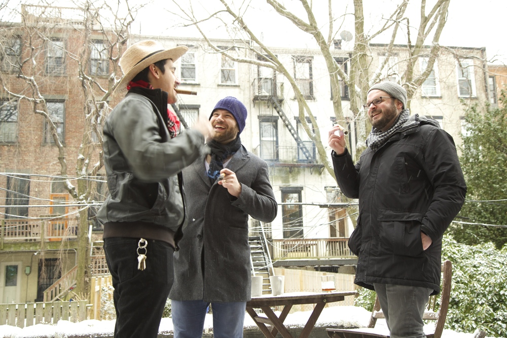 Our wonderful friend Anthony, who lives upstairs, and Isaac's great friend Chaz, who was in town from Chicago, braved the sub-zero temps and opted for some male bonding outside.