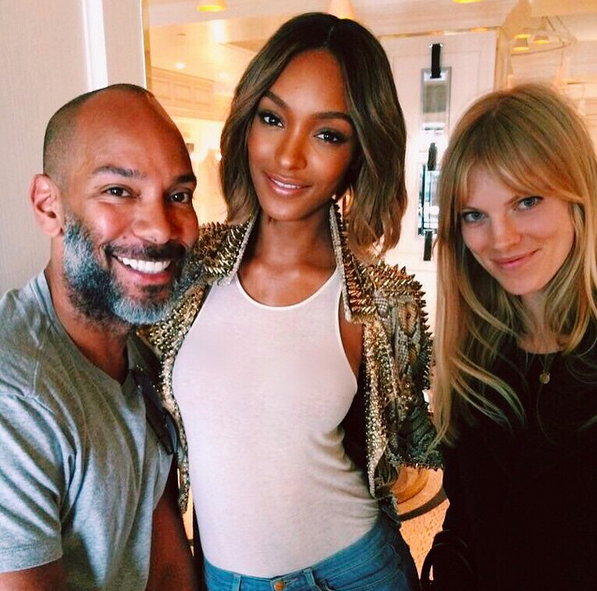 Working the Burberry Show with supermodel Jourdan Dunn