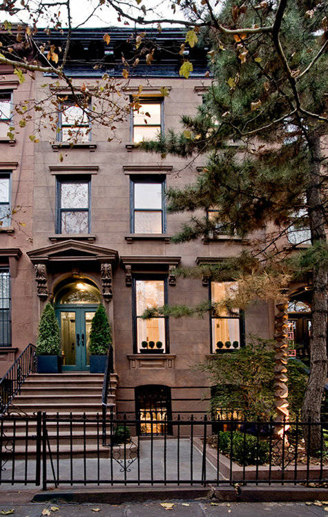 Photo via  Design Sponge  (this is the beautiful brownstone three doors up from us)