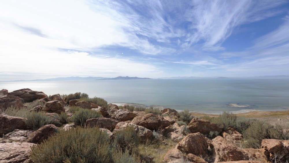 Antelope Island's Buffalo Point offers beautiful views of the lake.