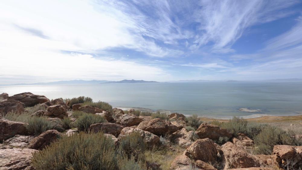 Antelope Island'sBuffalo Point offers beautiful views of the lake.