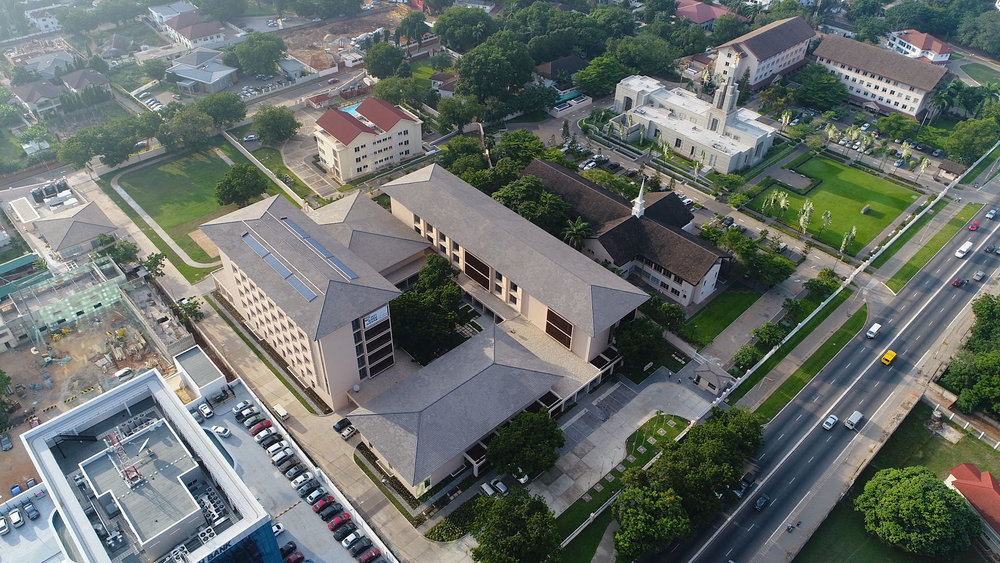 The Missionary Training Center sits on the same campus as the Ghana Temple, Accra Stake Center and West Africa Area offices. The mayor of Accra commented that this campus is one of the most well kept areas in the city.