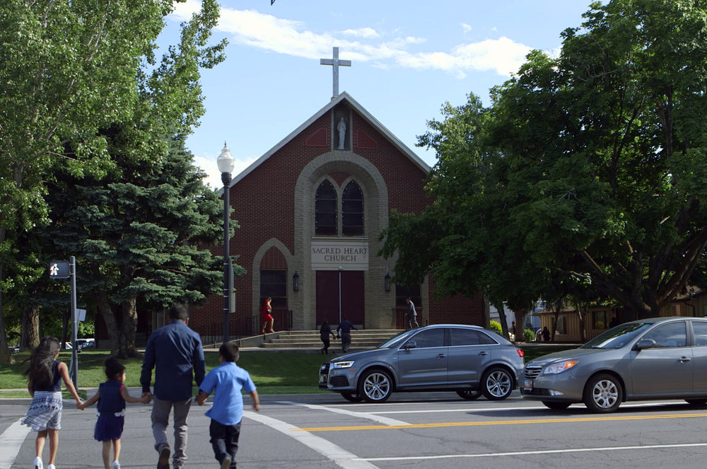 Sacred Heart Catholic Church located in Salt Lake City, Utah.