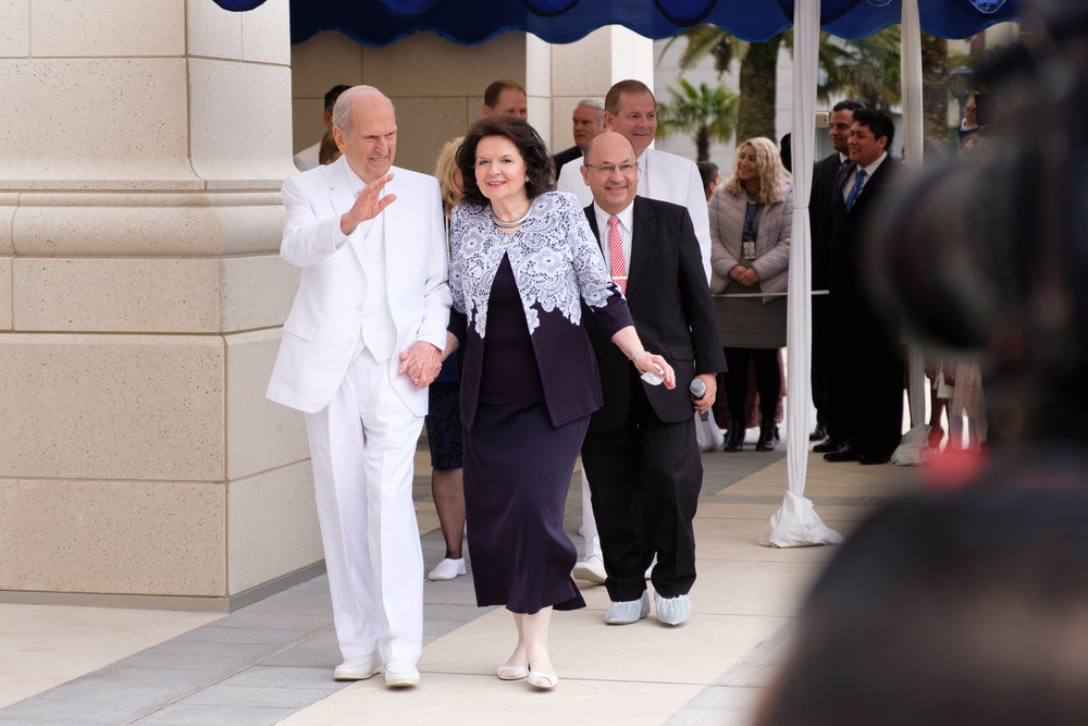 In Concepción, President Nelson dedicated the Concepción Temple. The day began with a public cornerstone ceremony. (Images courtesy Intellectual Reserve Inc.)