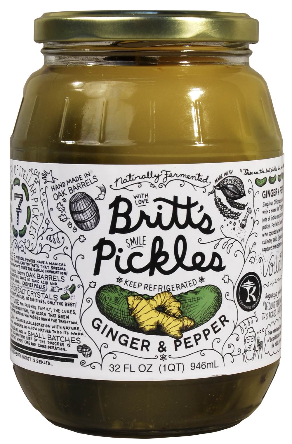Ginger & Pepper Pickles