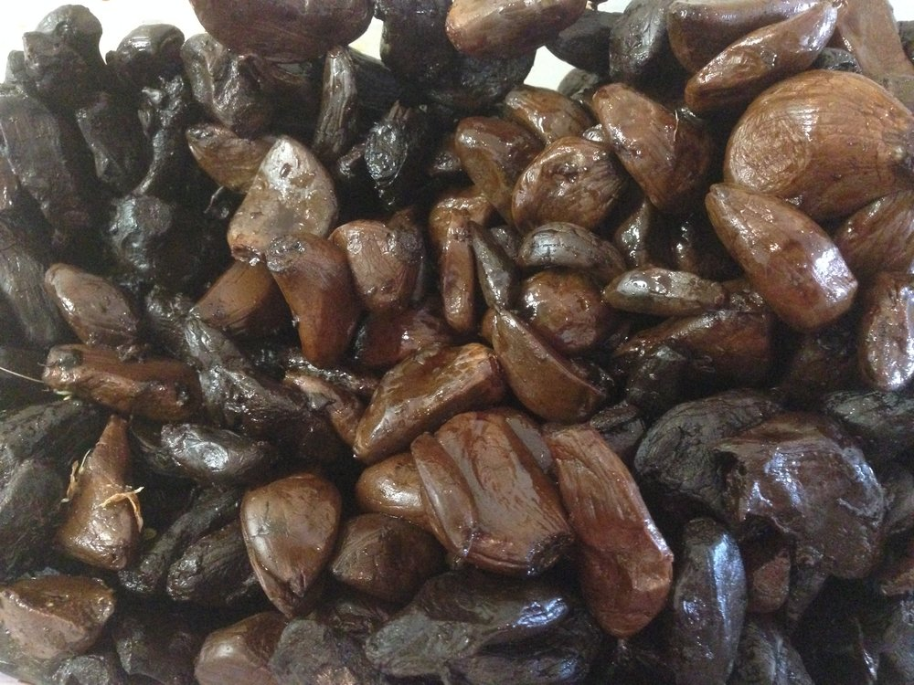 Black garlic cloves all ready...