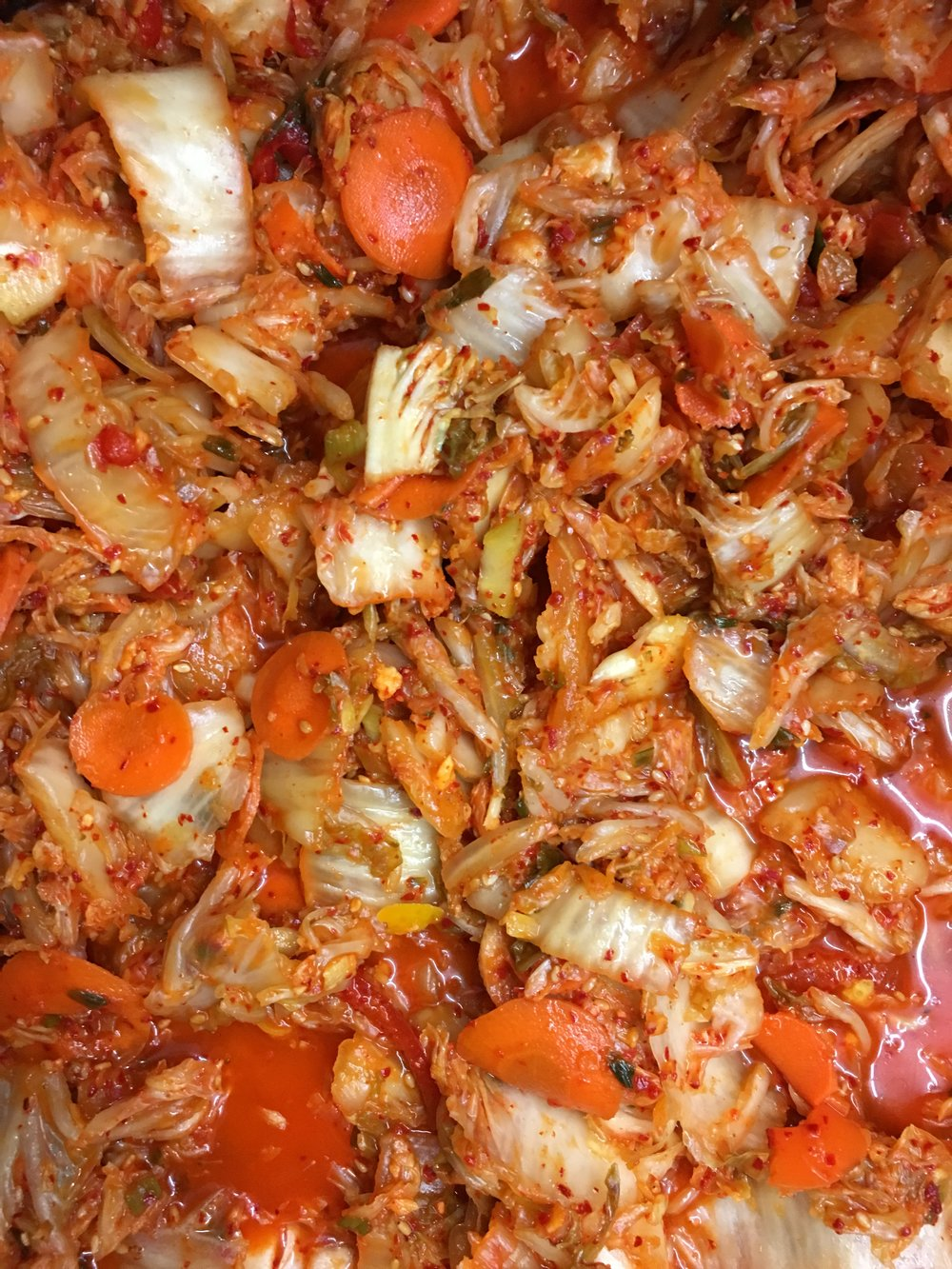 Britt's Market Kimchi...ready for packing...