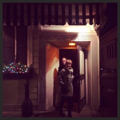 My parents leaving Bryant's.