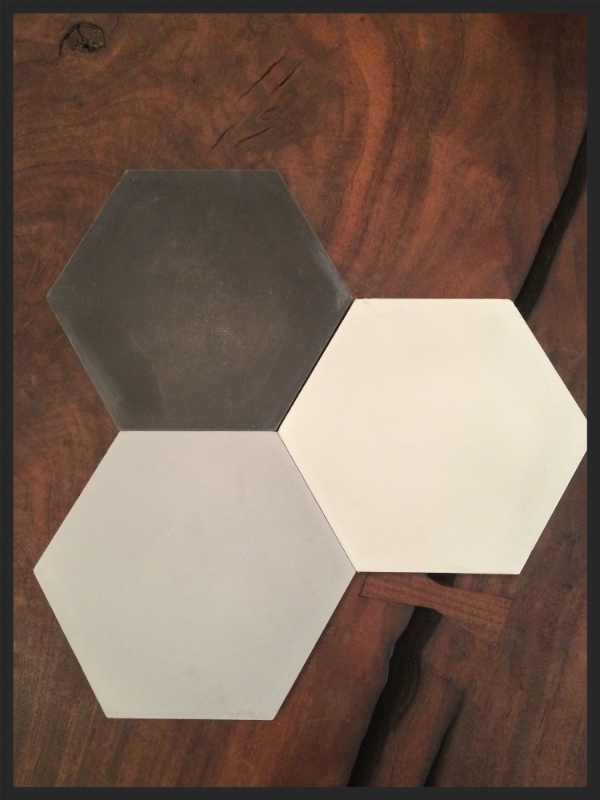 Hexagon cement tiles from The Cement Tile Shop