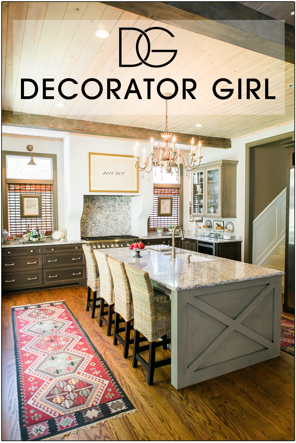Decorator girl for An interior designer