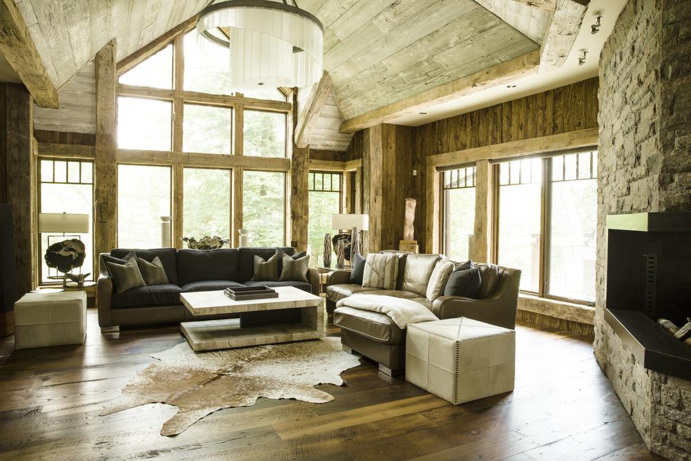 rustic interior design living room