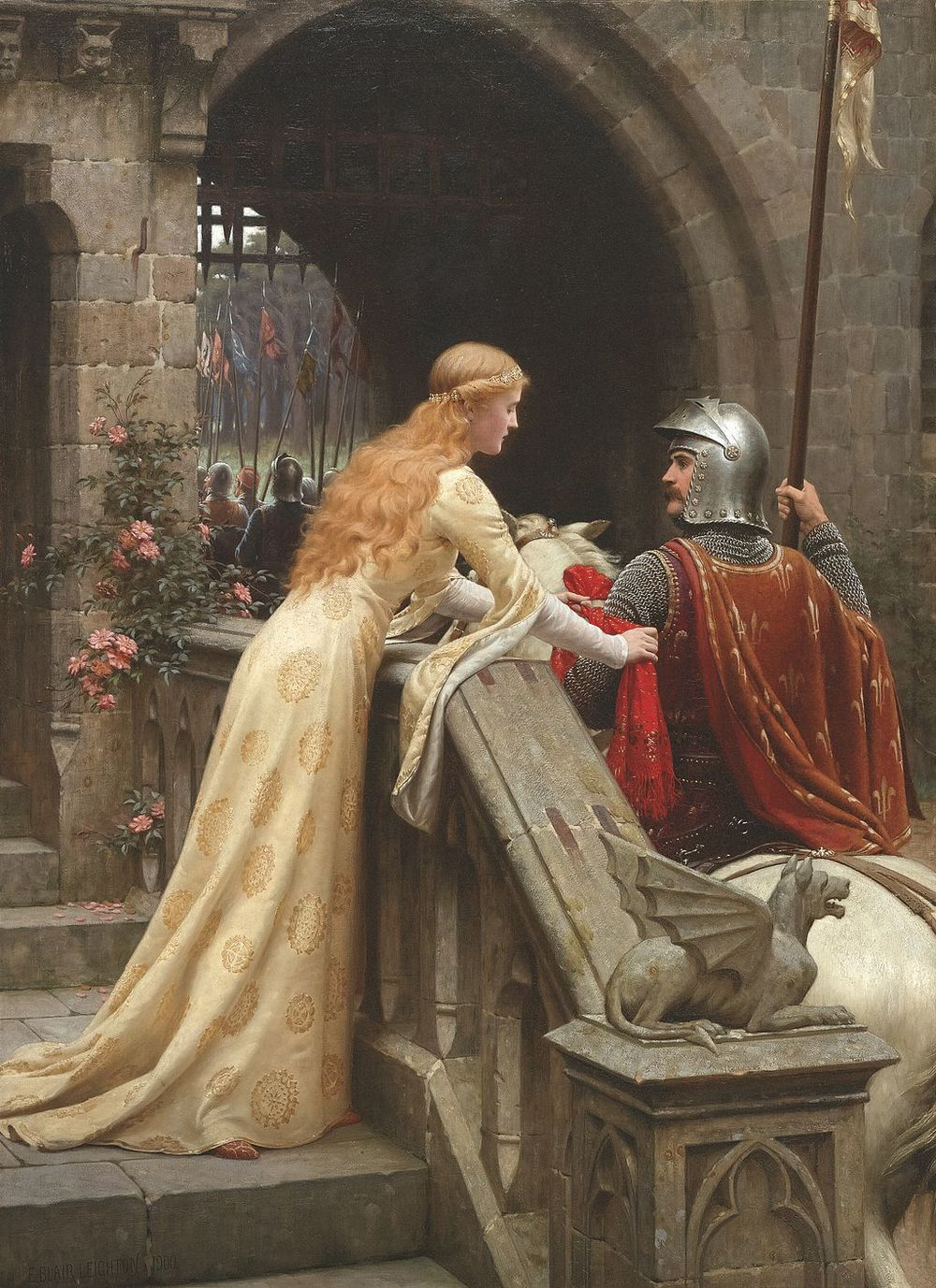 Courtly love... the romance of knights and princesses.