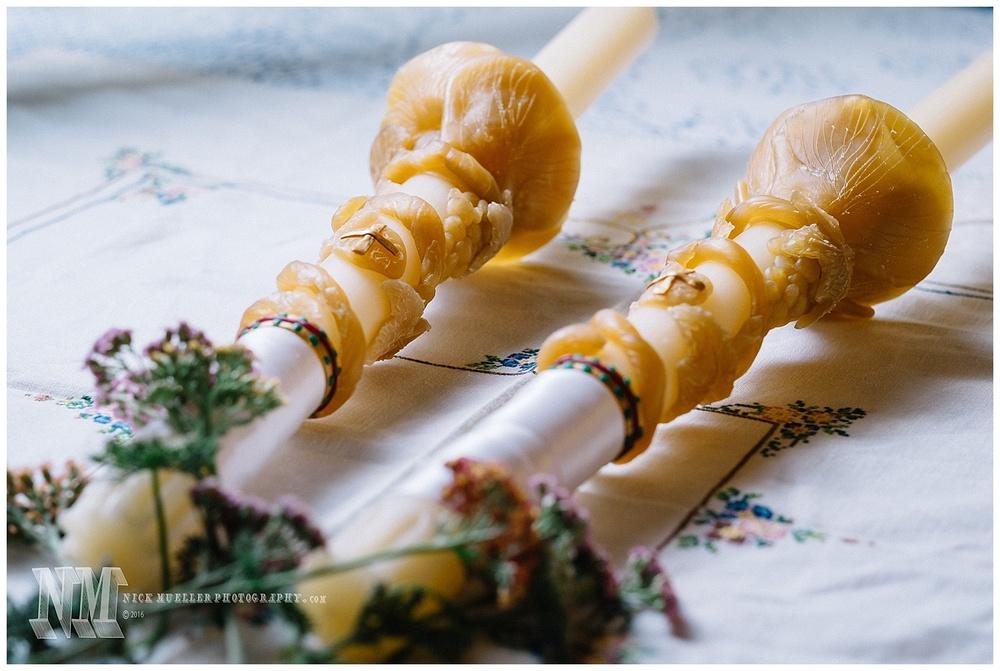 Handmade Orthodox Wedding Candles