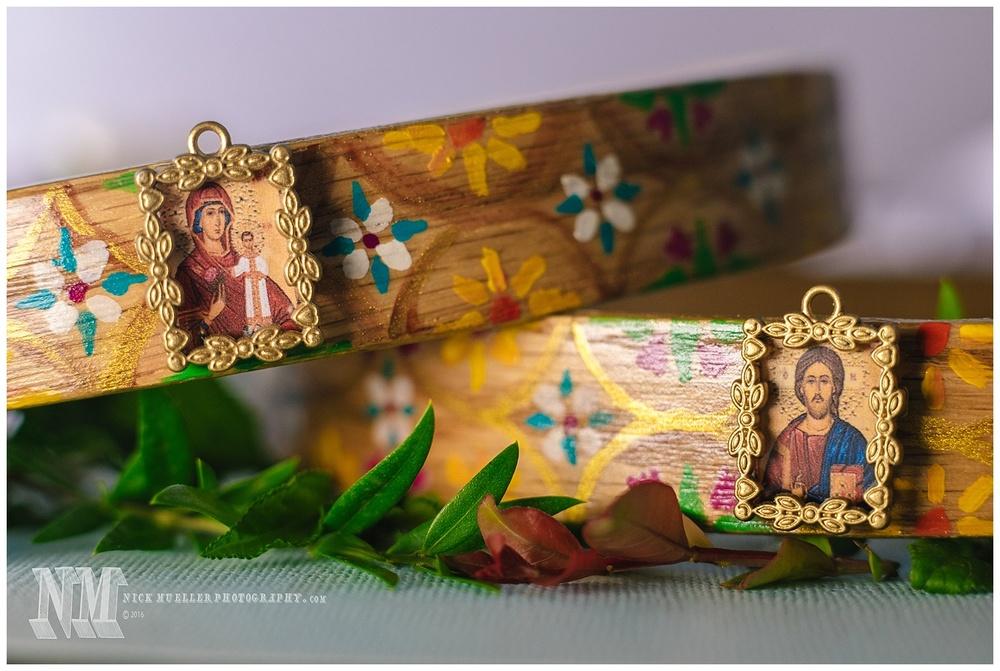 Detail of Orthodox Christian Wedding Crowns