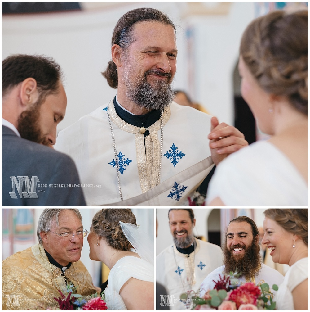 Priests Happy for the New Husband and Wife