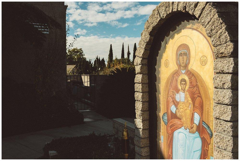 Theotokos Icon Oustside St. Luke Orthodox Church