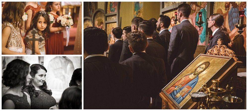 Icon of Christ at Orthodox wedding