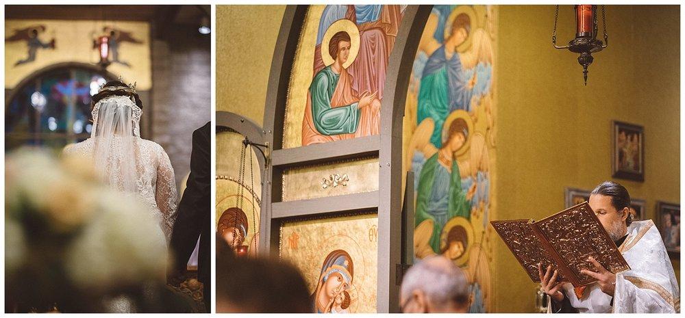 Fr. Josiah Trenham reads the Gospel at wedding