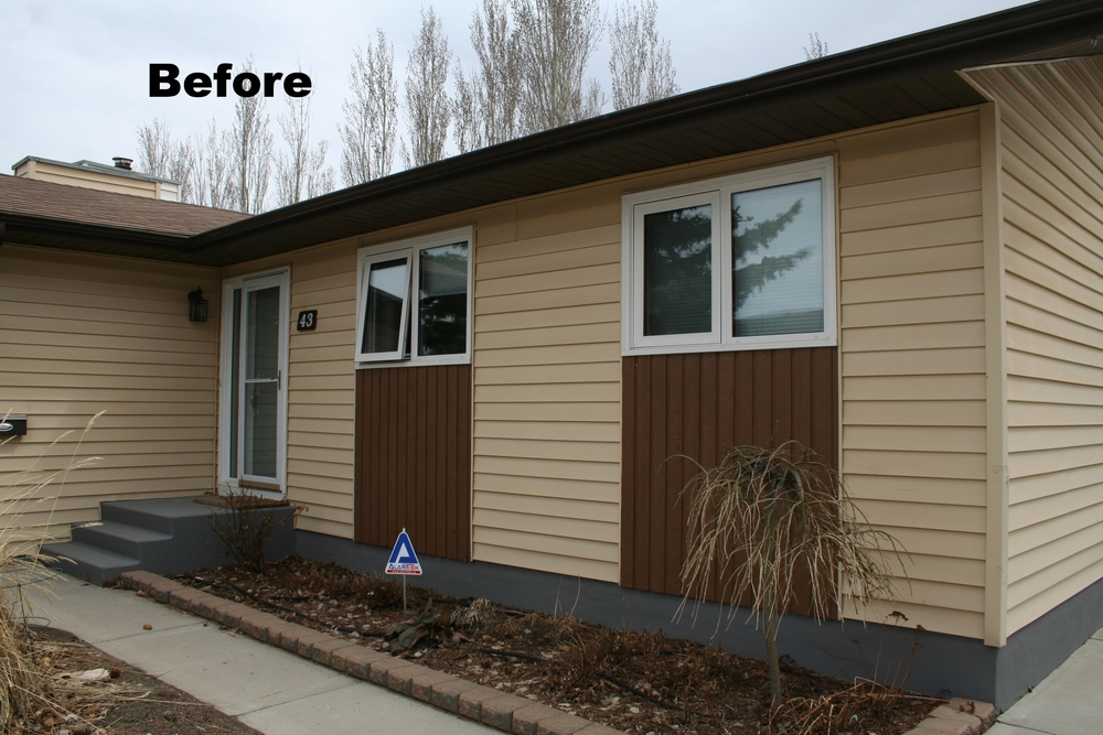 Before pic Siding, exterior renovation saskatoon.