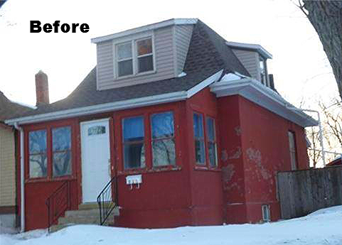 Before pic Saskatoon home renovation