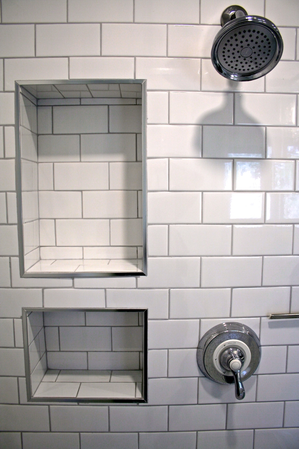 Bathroom subway tile shower renovation contractor alchemy saskatoon