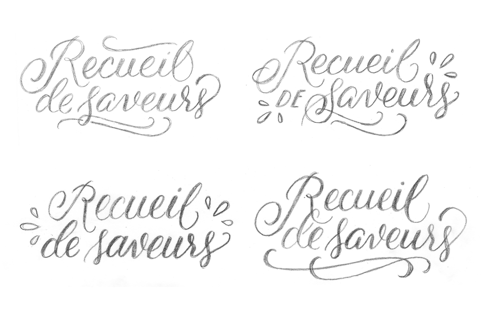 Recueil de Saveurs WIP - Lettering by Wink & Wonder