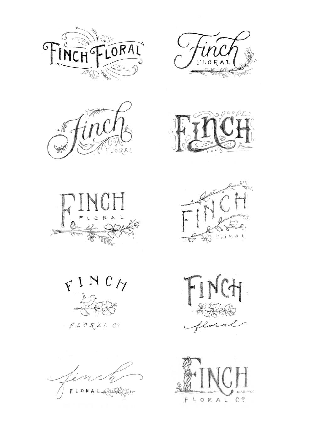 Finch Floral Branding by Wink & Wonder