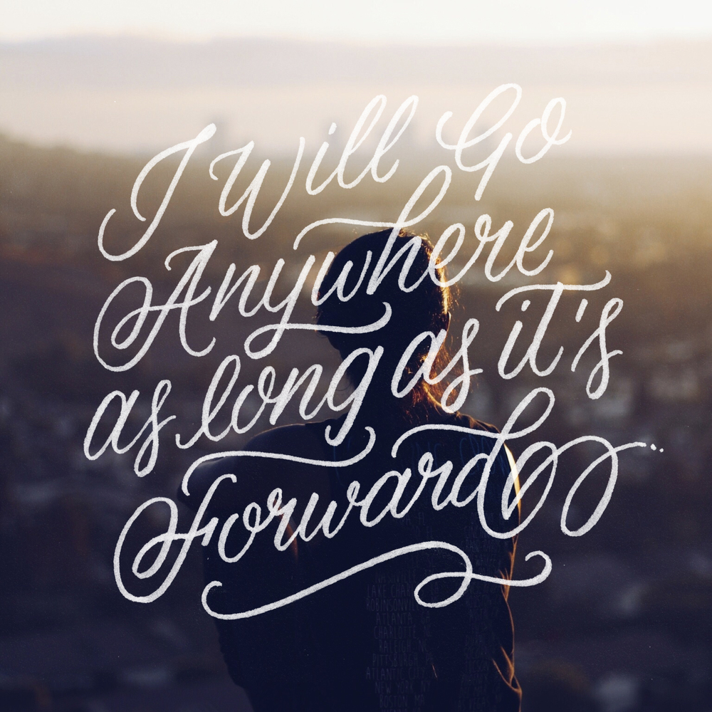 Anywhere - Lettering by Wink & Wonder