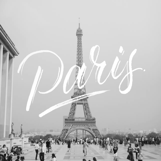 Paris - Lettering by Wink & Wonder
